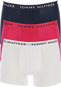 Tommy Hilfiger Recycled Essentials trunks (3-pack), wit, blauw en rood