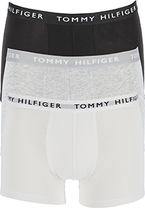 Tommy Hilfiger Recycled Essentials trunks (3-pack), wit, grijs en zwart