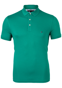 Tommy Hilfiger 1985 Slim Fit polo, groen, Courtside Green