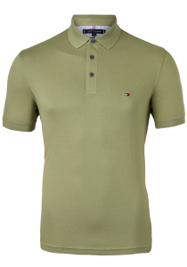 Tommy Hilfiger 1985 Slim Fit polo, olijf groen, Faded Olive