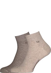 Calvin Klein herensokken Simon (2-pack), hoge enkelsokken, beige en lichtbruin