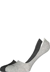 Calvin Klein Luca herensokken (2-pack), onzichtbare sneakersokken, antraciet en grijs