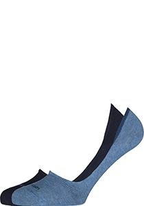 Calvin Klein Luca herensokken (2-pack), onzichtbare sneakersokken, navy en jeansblauw