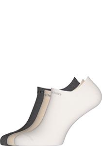 Calvin Klein herensokken Owen (3-pack), onzichtbare vochtregulerende sokken, beige, wit en grijs