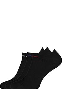 Calvin Klein herensokken Owen (3-pack), onzichtbare vochtregulerende sokken, zwart met gekleurd logo