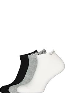 Calvin Klein herensokken Diego (6-pack), enkelsokken, zwart, wit en grijs