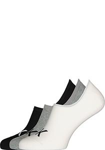 Calvin Klein herensokken Albert (3-pack), onzichtbare sokken, grijs, wit en zwart