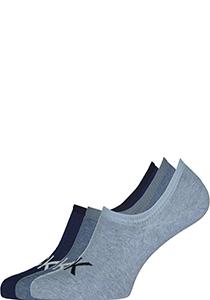 Calvin Klein herensokken Albert (3-pack), onzichtbare sokken, drie tinten denim blauw
