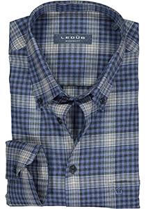 Ledub overhemd modern fit overhemd, blauw geruit