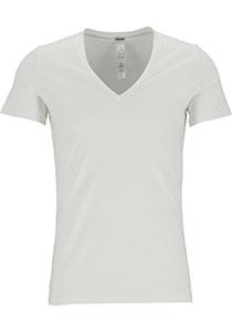 HOM Supreme Cotton tee-shirt (1-pack), heren T-shirt V-hals, wit
