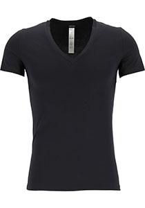 HOM Supreme Cotton tee-shirt (1-pack), heren T-shirt V-hals, zwart