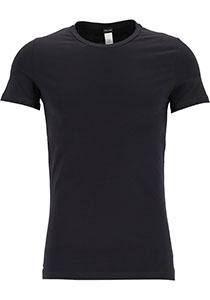 HOM Supreme Cotton tee-shirt (1-pack), heren T-shirt O-hals, zwart