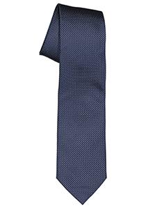 Michaelis  stropdas, zijde, blauw met wit gestipt