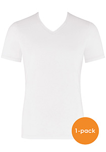 Sloggi Men EverNew V-Neck, heren T-shirt (1-pack), wit