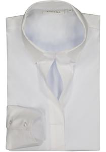 Eterna dames blouse Modern Classic jersey stretch, wit