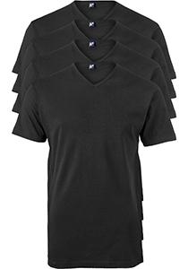 ALAN RED T-shirts Vermont extra lang (4-pack), V-hals, zwart