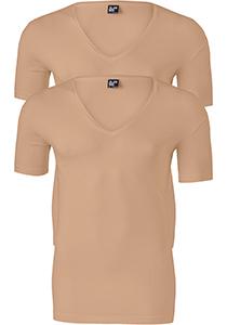 ALAN RED T-shirts no neck (2-pack), diepe V-hals, huidskleur
