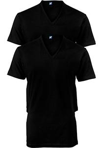 ALAN RED T-shirts no neck (2-pack), diepe V-hals, zwart