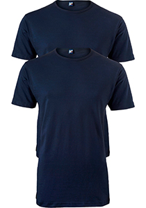 ALAN RED T-shirts Ottawa (2-pack), O-hals stretch, donker blauw
