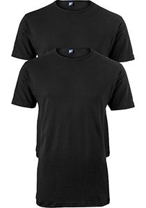 ALAN RED T-shirts Ottawa (2-pack), O-hals stretch, zwart