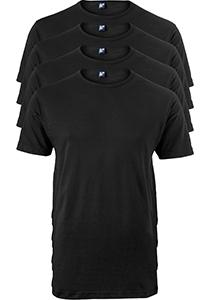 ALAN RED T-shirts Ottawa (4-pack), O-hals stretch, zwart