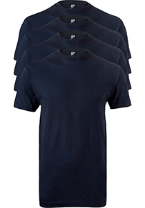 ALAN RED T-shirts Virginia (4-pack), O-hals, blauw