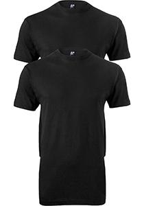 ALAN RED T-shirts Virginia (2-pack), O-hals, zwart