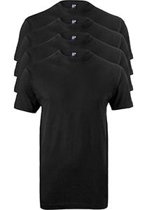 ALAN RED T-shirts Virginia (4-pack), O-hals, zwart