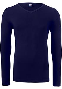 ALAN RED T-shirt Oslo (1-pack), V-hals lange mouw stretch, blauw