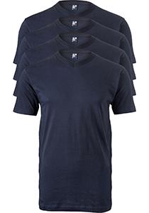 ALAN RED T-shirts West Virginia (4-pack), V-hals, blauw