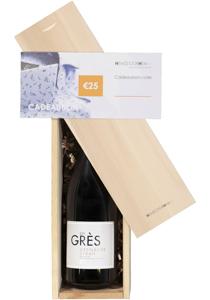 Heren en dames cadeaubox: rode wijn met cadeaubon