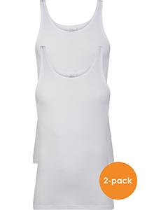 SCHIESSER Cotton Essentials Feinripp singlets (2-pack), wit