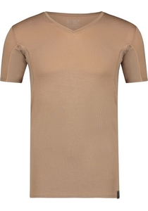 RJ Bodywear Sweatproof T-shirt V-hals (oksels), huidskleur