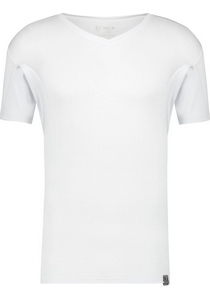 RJ Bodywear Sweatproof T-shirt V-hals (oksels), wit