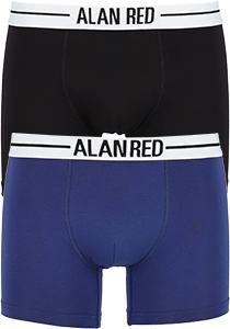ALAN RED boxershorts (2-pack), zwart / blauw
