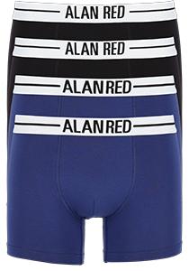 ALAN RED boxershorts (4-pack), zwart / blauw