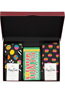 Happy Chocolade cadeauset; Groen en grijs met stip