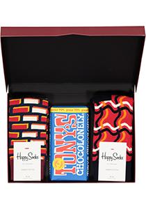 Happy Chocolade cadeauset; Puur rood, wit en blauw