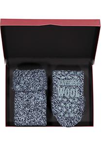 Homepads sokken wol, blauw (in cadeauverpakking)