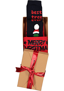 Homepads Kerst herensokken, Best beer tree in cadeauverpakking (one size)