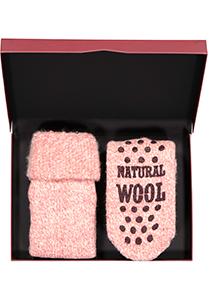 Homepads sokken wol, roze (in cadeauverpakking)