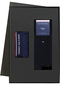 Heren cadeaubox: Tommy Hilfiger boxershort + 2-pack Tommy Hilfiger sokken blauw