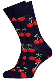 Happy Socks sokken Cherry Sock, blauw met kleurtjes