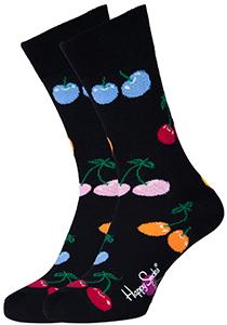 Happy Socks herensokken Cherry Sock zwart met kleurtjes