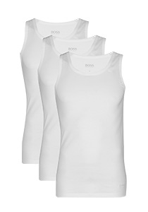 Actie 3-pack: Hugo Boss singlet Regular Fit, O-hals, wit
