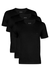 Actie 3-pack: Hugo Boss T-shirts Regular Fit, O-hals, zwart