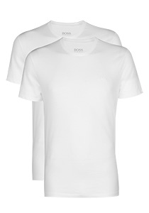 HUGO BOSS T-shirts relaxed fit (2-pack), heren T-shirts O-hals, wit