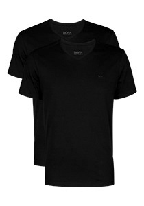 2-pack: Hugo Boss T-shirts Relaxed Fit, V-hals, zwart