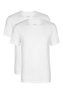 HUGO BOSS T-shirts relaxed fit (2-pack), heren T-shirts V-hals, wit