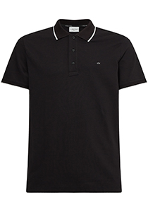 Calvin Klein Tipping Slim polo (stretch), zwart